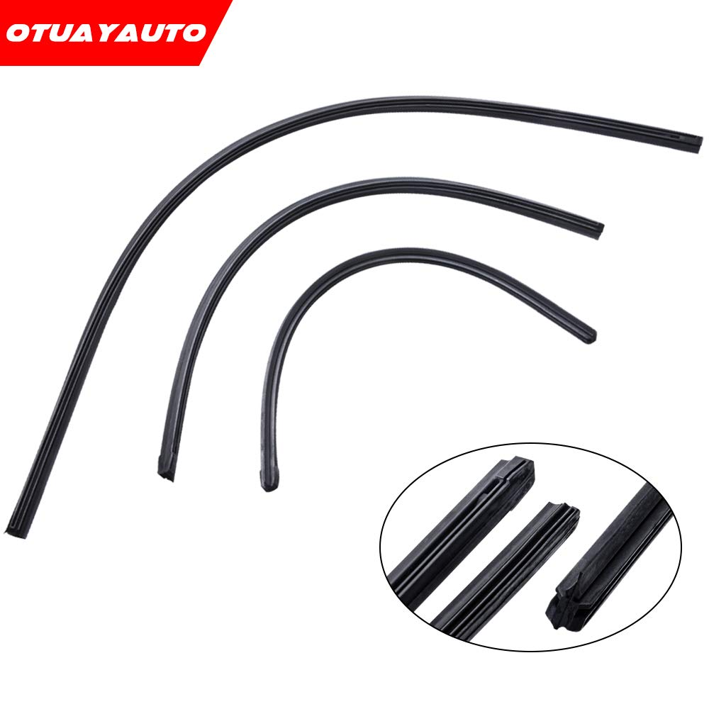 For Subaru Forester 2014-2017, OTUAYAUTO Front and Rear Windshield Wiper Blade Refills (9mm)