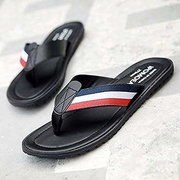 AIHUWAI Sandalias Sandalias Hombres Zapatillas Hombre Sandalias de Vestir de Verano Slip Zapatos de Playa Al Aire Libre Sandalias de Cuero Al Aire Libre ...
