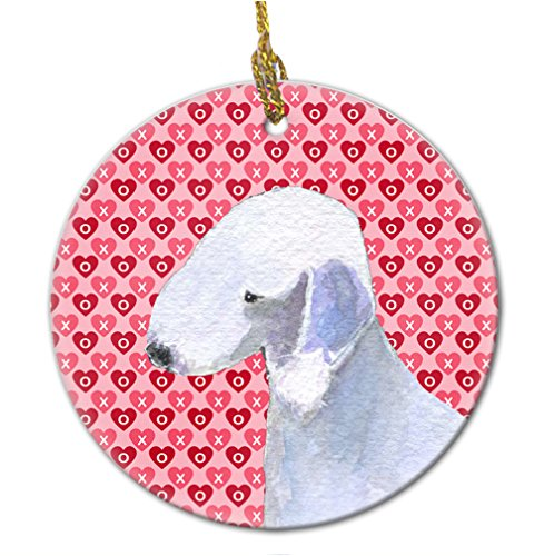 Caroline's Treasures SS4483CO1 Bedlington Terrier Ceramic Ornament, Multicolor ()