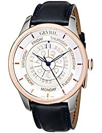 Gevril Men's 2003 Analog Automatic Self Wind Blue Leather Watch