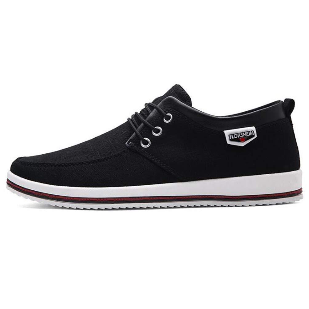 ZHRUI Männer Wohnungen Frühlingsmode Formelle Schuhe Outdoor Casual Schuhe (Farbe   Schwarz, Größe   9.5UK=44EU)