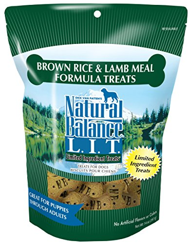 Natural Balance L.I.T. Limited Ingredient Dog Treats, Brown Rice & Lamb Meal Formula, 14-Ounce
