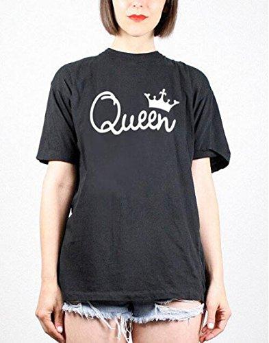 ZKOO Camisetas de Manga Corta para Parejas King and Queen Corona Impreso Hombre y Mujer T-Shirts Camisas Blusa Tops del Verano: Amazon.es: Ropa y accesorios
