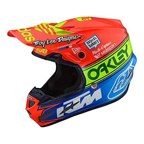 Troy Lee Designs SE4 Composite Team Edition 2 Adult Off-Road Motorcyle Helmet (Orange/Blue, ()