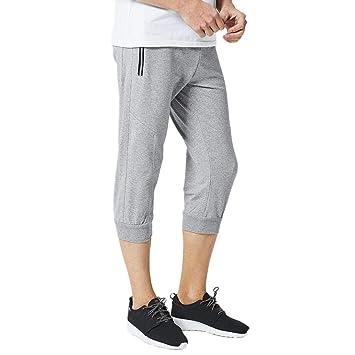 57422df80fb0 ASHOP 7/8 Jogginghose Herren, Männer Hose Fitness Sweathose Casual  Baumwolle Joggers Sporthose Loose Elastische Stretch Sweatpants Bequeme ...