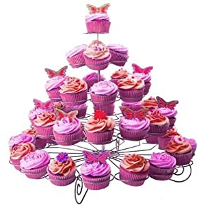 5 Tier Cupcake Stand, Design Perfect Forbaby Showers, Birthdays, Weddings, Holiday and More
