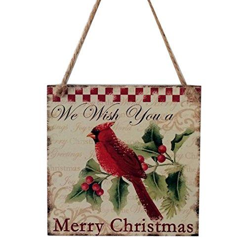 Leewa@ Indoor Outdoor Wood Christmas Hanging Door Decorations