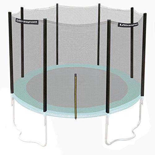 Ultrasport Sicherheitsnetz für Gartentrampolin Ultrasport Jumper Wave in Grün, 305 cm