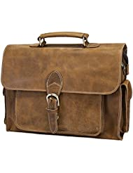 Itslife Messenger Satchel bag for men leather 13 inch laptop Briefcase for everday use