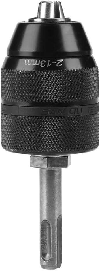 FTVOGUE 2-13mm sin llave Cambio R/ápido Multi Herramienta Chuck Torno Broca de V/ástago Accesorio con Adaptador SDS