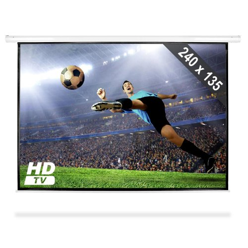 240x135 cm 16:9 Rollo Leinwand für Heimkino Beamer/Projektor FullHD 1080p (Gainfaktor 1.0 , Ø 274cm, 16:9)