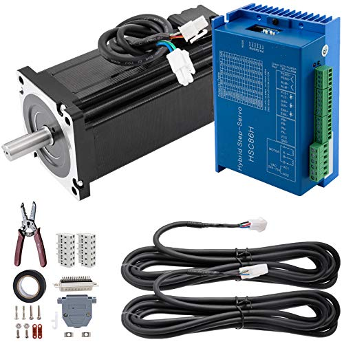 Mophorn Nema34 12Nm Closed Loop Stepper Servo Motor 2 Phase Hybrid Driver CNC Kit (Servo Cnc Motor)
