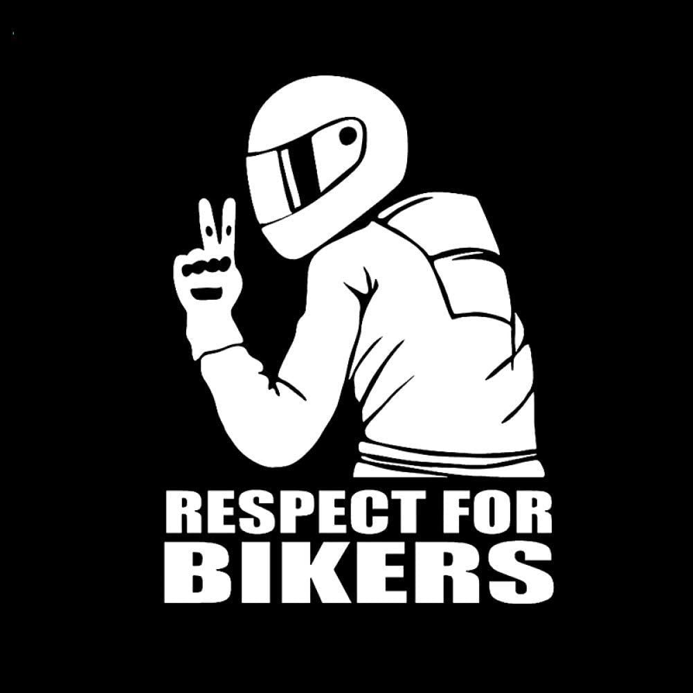 Car Sticker 14x19cm Car Stickers Respect For Bikers Sticker On Auto Vinyl Funny 3d Stickers And Decals Motorcycle Car Styling Decoration Baumarkt