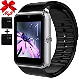 Smart Watch for Android Phones with SIM Card Slot Camera, Bluetooth Watch Phone Touchscreen Compatible iOS Phones, Smart Fitness Watch with Sleep Monitor sedentary Reminder for Men Women Kids ...