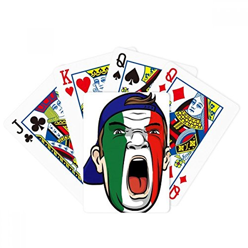 Italy Flag Facial Makeup Mask Cap Poker Playing Cards Tabletop Game Gift by beatChong