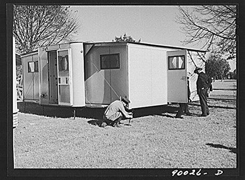 1941 Photo Palace Mobile Home  Expansion Trailer For Emergency Defense Housing Demonstrated In Washington Tourist Camp  Washington  D C  Location  Washington D C