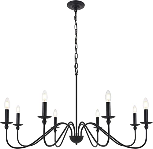 Living District Rohan 8 Light Matte Black Pendant