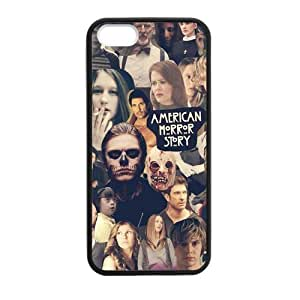 Hot TV Series American Horror Story Coven Collage Design Cover Case for iPhone 5/5s (Laser Technology)