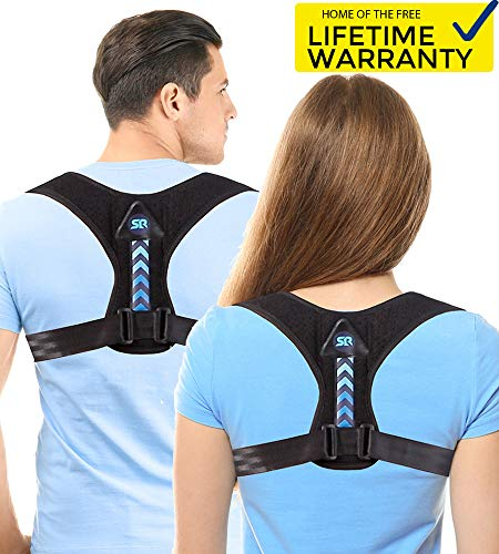 Updated 2019 Version Perfect Adjustable Posture Corrector for Men and Women - Upper Back Brace for Clavicle Support and Providing Pain Relief from Neck Shoulder Upright Straightener Comfortable (Shoulder And Back Posture Support Strap Reviews)