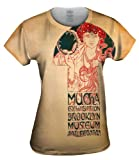 Yizzam- Alphonse Mucha-Poster for the Brooklyn Exh...-TShirt- Womens Shirt 1329-X-Large