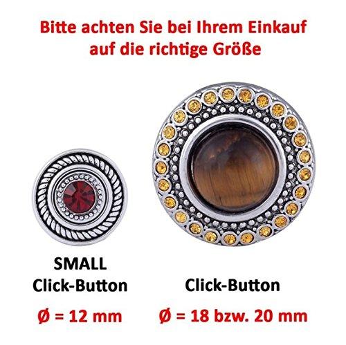 Morella ® pour petit click-button lot de 3 boutons pression pour bijou femme à motifs de fleurs de 12 mm de diamètre en argent en forme de lotus
