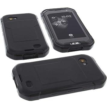 foto-kontor Funda para Blackview BV6000 / BV6000S Protectora de Goma TPU para móvil Negra