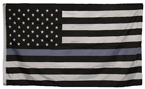 (ALBATROS 3 ft x 5 ft USA American Thin Grey Line Correctional Officer Flag Banner Polyester for Home and Parades, Official Party, All Weather Indoors Outdoors)