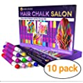 Desire Deluxe Hair Chalk For Girls Makeup Kit Of 10 Temporary Colour Pens Gifts Great Toy For Kids Age 5 6 7 8 9 10 11 12 13 Years Old