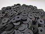 (100) Rubber Washers | 1 x 3/8 x 1/16 Inch | Neoprene Washers | 3/8 ID | 1 Inch OD | E1038116