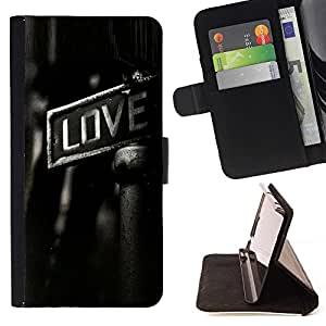 Momo Phone Case / Flip Funda de Cuero Case Cover - AMOR GRITTY - LG G4 Stylus H540