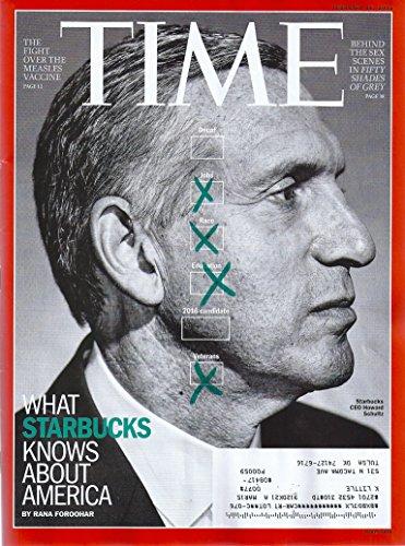 Starbucks CEO Howard Schultz * Nigeria * Fifty Shades of Grey * Nicki Minaj * February 16, 2015 Time Magazine