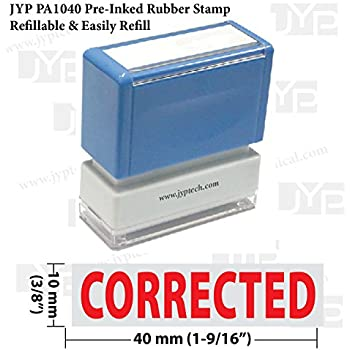 amazon com new jyp pa1040 pre inked rubber stamp w corrected