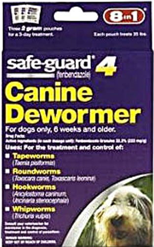 Eight in One Safeguard 4 Canine Dewormer for Medium Dogs -- 2 g - 3 ()