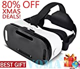 3D VR Glasses, 360 Degree Viewing Immersive VR Virtual Reality Headset 3D Movie Game Box For iPhone X 8 7 6/6s Plus, Samsung S8 S7 S6/Plus/Edge Note 8, Smartphones w/ 4.7 - 6.0in Screen White1