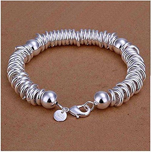 NYKKOLA Beautiful Jewelry 925 Solid Silver Classic Hoop Bangle Bracelets For Women Mens