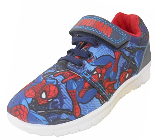 Spiderman Veryan Blue Trainers Various Sizes