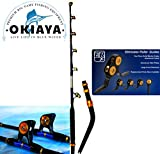 "OKIAYA VENOM PRO BENT BUTT FISHING ROD 80-130 LB. ""THE MONSTER"" PAC BAY GUIDES For Sale"