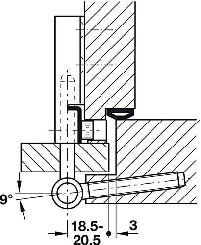 Baubeschl/äge von GedoTec/® Scharnier Metall vernickelt T/ürscharnier Einbohrband steigend T/ürband Variant 5450 f/ür Innent/üren Anschlag: DIN rechts Tragkraft bis 40 kg