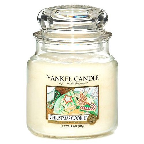 Yankee Candles Christmas Cookie Medium Jar Candle,Food & Spice Scent