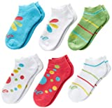 ASICS Girl's Lil' Runner No Show Socks (6-Pack)