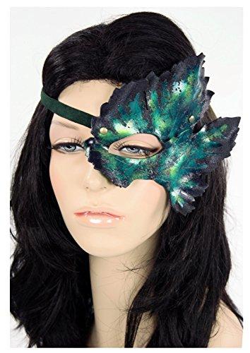 Handcrafted Leather Grape Leaf Mask (God Of Wine Costume)