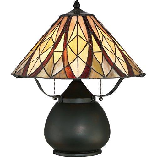 Quoizel TFVY6118VA Two Light Table Lamp, Small, Valiant Bronze ()