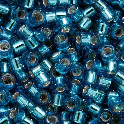 (Miyuki Delica Seed Beads 10/0 Silver Lined Aquamarine DBM0149 8)