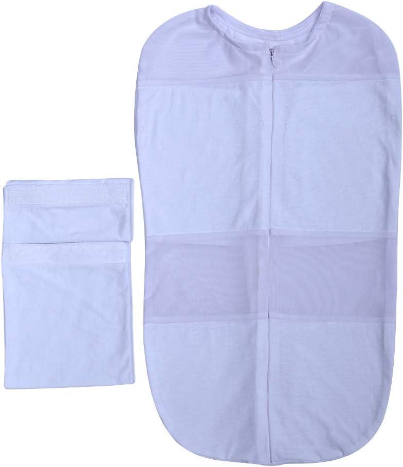 saco de dormir de verano de algod/ón suave regalo de 0 a 6 meses azul azul Talla:0-3M Saco de dormir para beb/é reci/én nacido para baby shower