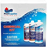 Premium Pool Opening/Closing Chemical Kit (Up to 100,000 litres) by Pool Supplies Canada