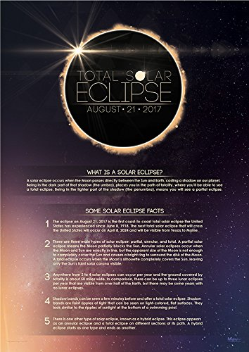 Total Solar Eclipse 2017 MightyPrint Wall Art Premium Poster with Facts by MightyPrint