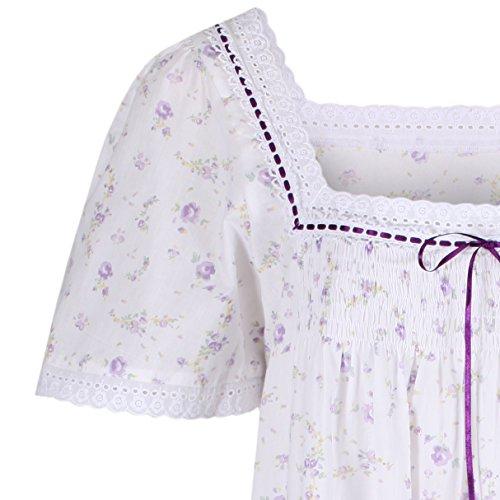 perThe 1 for U 100% cotone camicia da notte Maniche corte - Evelyn