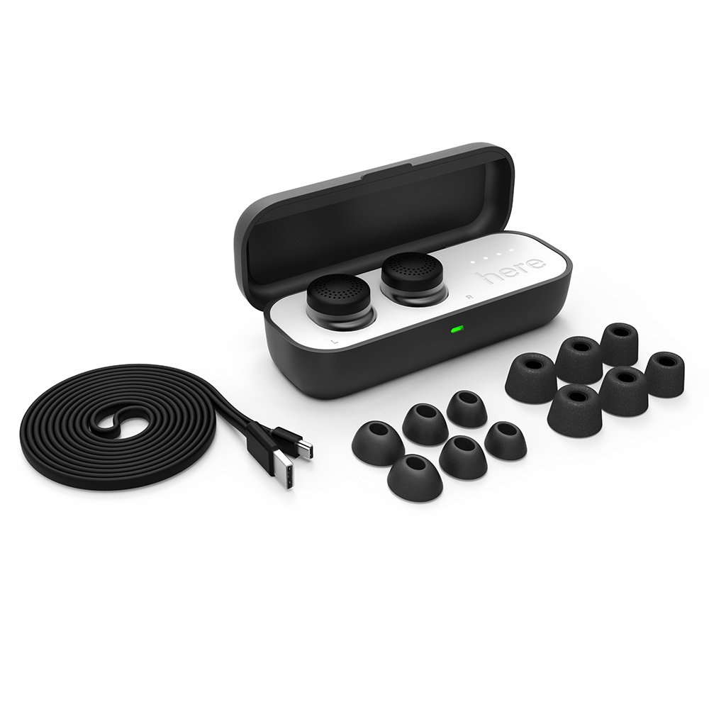 Here One Wireless Smart Earbuds: 3-in-1 Noise Cancelling & In Ear Bluetooth Headphones - iPhone Compatible (Black) by Doppler Labs (Image #3)