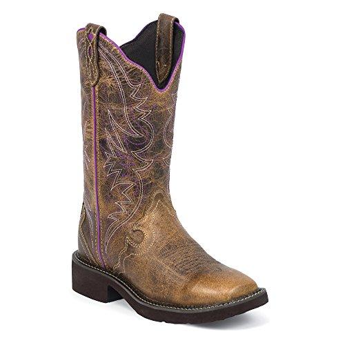 L2918 Donne Cowboy Justin Stivali Da Delle Tan Stivali UFq61qI