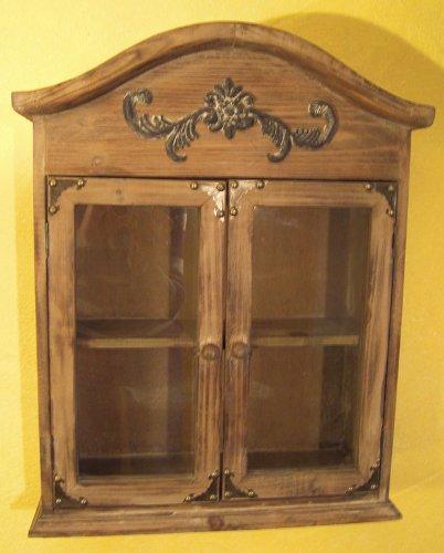 Hängeschrank Schrank Antik-Look Holz Landhaus H55cm: Amazon.de ... | {Hängeschrank antik 60}